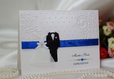 Piękne Zaproszenia ślubne Na ślub Z Personalizacją 5736804963
