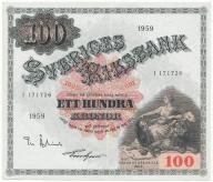 3962. Szwecja 100 kronor 1959 st.2
