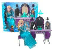 Frozen Elsa Toaletka Lalka Kraina Lodu Akcesoria