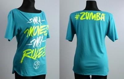 Najnowsze Zumba koszulka S, M,L,XL,XXL na zumbę - 6663484716 - oficjalne PC36