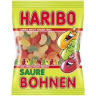 Żelki HARIBO kwasne fasolki 200g z Niemiec