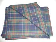 tkanina ubraniowa krata granat-zieleń-czerwień-żół