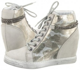 Sneakersy Carinii na koturnie buty damskie moro 36 Ceny i