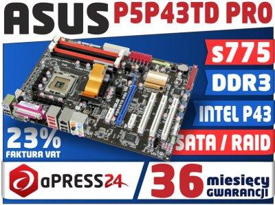 PŁYTA GŁÓWNA ASUS P5P43TD PRO 775 DDR3 16GB RAID