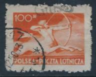 Polska Poczta Lotnicza 100 zł przedryuk na grosze