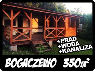 Działka rekreacyjna BOGACZEWO 350m +DOMEK +MEDIA