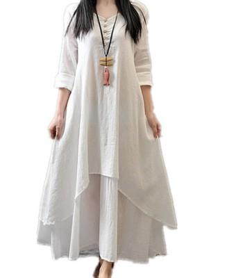 2c2b47b3c6 sukienka lniana biała zwiewna - 6840923657 - oficjalne archiwum allegro
