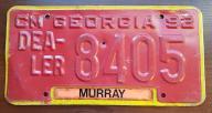 Georgia - tab rejestracyjna USA