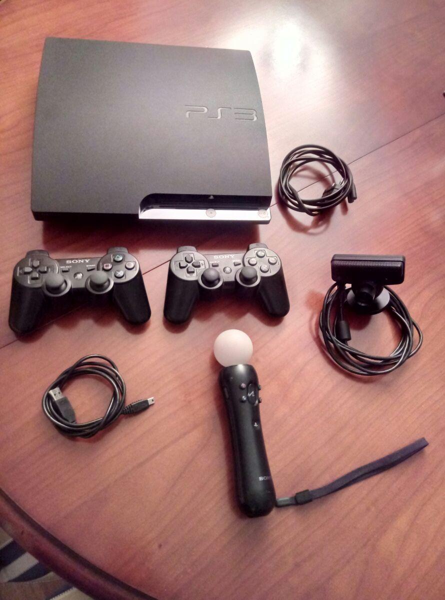 PS3 Slim 320GB + pady + akcesoria + 11 gier! BCM!