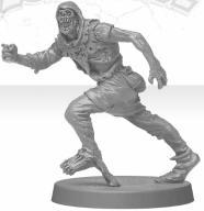 Zombicide - biegnący zombie w kapturze
