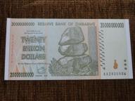 832.ZIMBABWE 20 000 000 000 DOLARÓW UNC