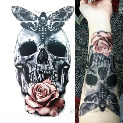 Tatuaz Zmywalny ćma Z Czaszką 6823092553 Oficjalne