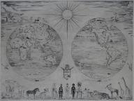Świat, Mapa Świata, Atlas, Józef Hecht, Paryż 1928