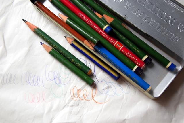 Ołówki kopiowe w metalowej puszce, Faber-Castell