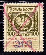 100 zł - NADRUK - Opłata sądowa