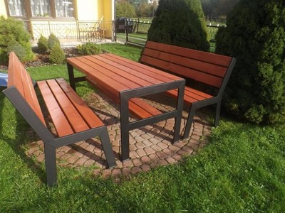 Meble Ogrodowe Z Drewna Drewniane Metalowe Dł180cm