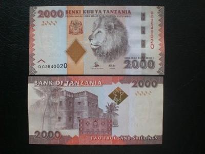 TANZANIA - 2000 SHILINGI 2010/15,UNC