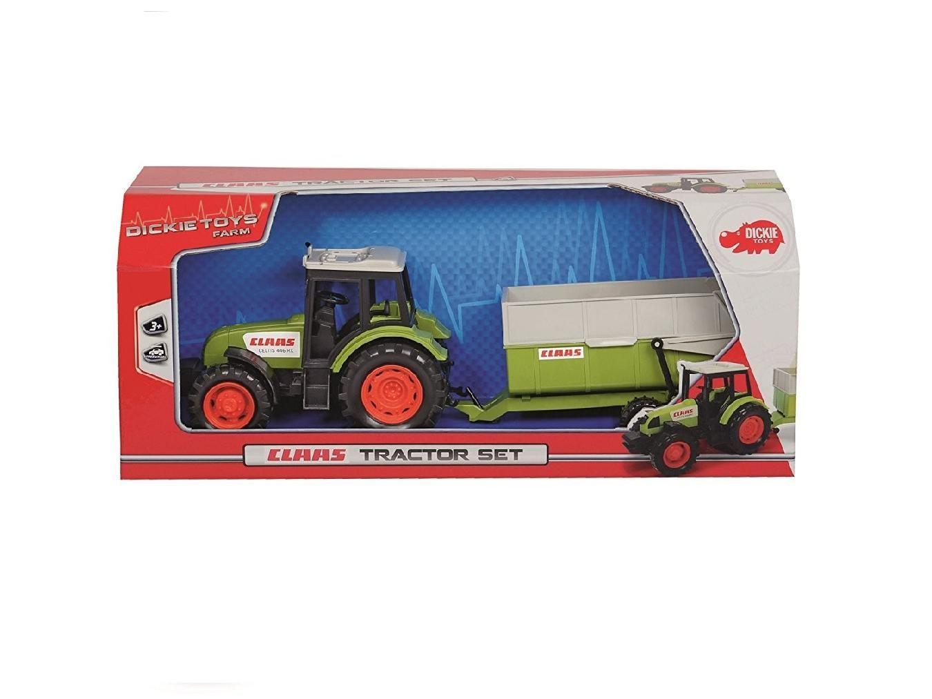 DICKIE Traktor Claas z przyczepą, 36 cm