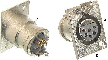 Złącze XLR 6pin gniazdo damskie na obudowę MCJ5066