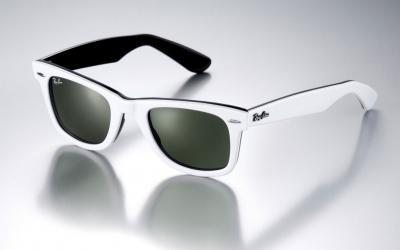 Okulary przeciwsłoneczne Ray Ban WAYFARER Białe