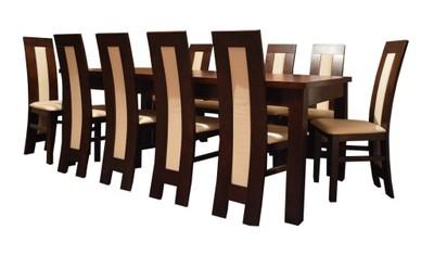 Duży stół 100x200300 krzesła do jadalni promocja Zdjęcie