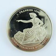 1 Frank 1850 - Szwajcaria - lustro -B183