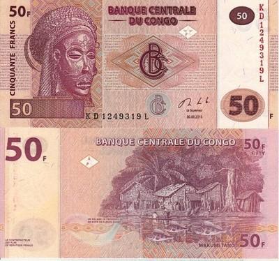 # KONGO - 50 FRANKÓW - 2007 - UNC