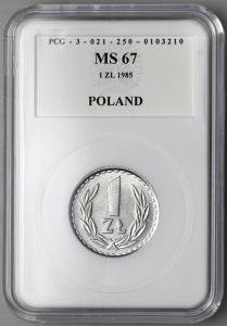 4650. 1 zł 1985 w opakowaniu PCG