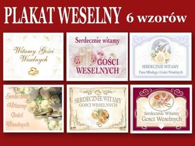 Plansze ,Plakaty Weselne 34,5X 50cm NOWOŚCI Ślub !