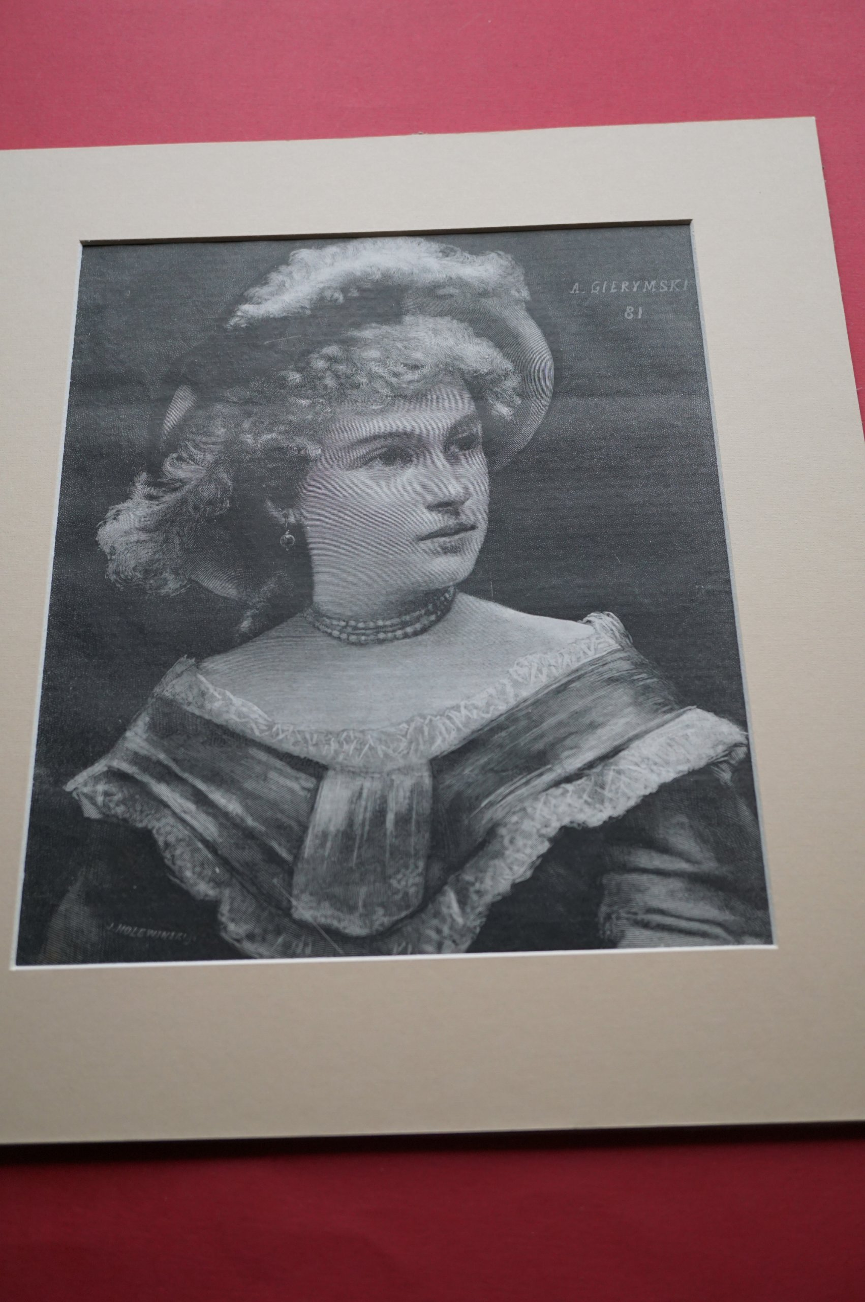 GIERYMSKI A: Studium [portretowe] 1881. Drzeworyt.
