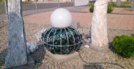 Donica gabionowa- kula duża, ogród, gabion, dekora