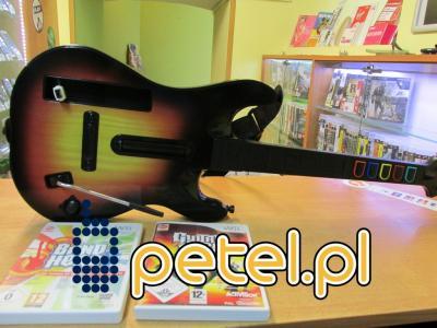 Nintendo Wii Gitara+ Gituar Hero+ BandHero PETEL