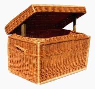 Skrzynia wiklinowa kufer wiklinowy na zabawki 45PL