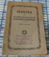STATUTEN DES SCHWEIZERISCHEN GEWERBEVERBANDES 1924
