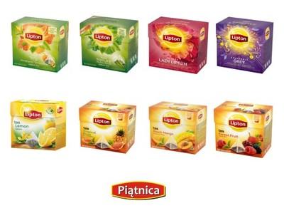 Herbata Lipton Piramidki Różne Smaki HIT- PIĄTNICA