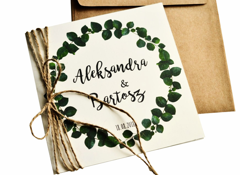 Zaproszenie ślubne Na ślub Rustykalne Botaniczne 7033483110