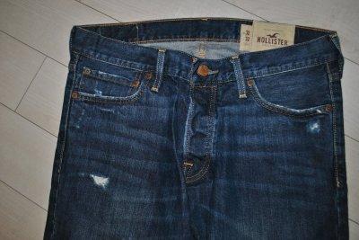 hollister 32/32 spodnie vintage dziury