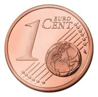 1 Euro cent Estonia 2012r
