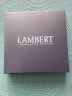 Poszetka LAMBERT 100% jedwab biała
