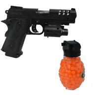 PISTOLET COLT BROŃ KULKI ASG granat z kulkami