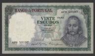 Portugalia - 20 escudos - 1960 - stan 2
