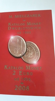 KATALOG MONET 2 EURO OD 1999 DO 2008