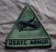 nowa naszywka US ARMY USATC Armor School Class