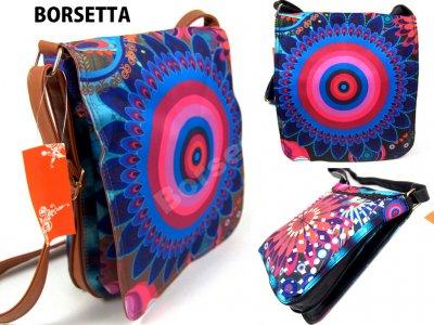 61856ad808172 Torebka damska listonoszka kolorowa PAWIE OKO - 6209012594 ...
