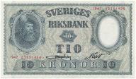 3944. Szwecja 10 kronor 1947 st.1-