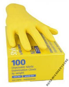 2cd511f8801932 Rękawice rękawiczki nitrylowe ŻÓŁTE 100szt /L - 5513138265 ...