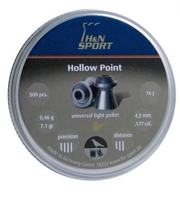 ŚRUT H&N HOLLOW POINT 4,5 MM 500