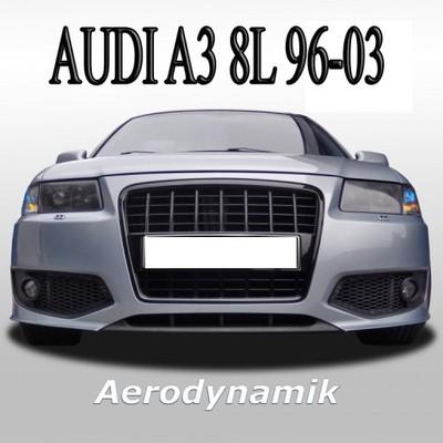 Zderzak Audi A3 8l 96 03 Sport Look Czarny Rs3 S3 6109899582 Oficjalne Archiwum Allegro
