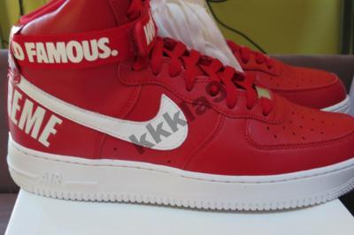 Nike X Supreme Air Force 1 Hi Czerwone Biale Usa 4834959810 Oficjalne Archiwum Allegro