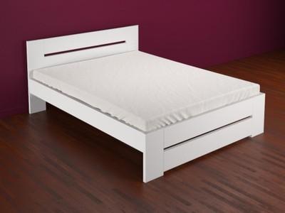Białe łóżko Drewniane Bukowe 120x200 Nowoczesne 6379074300